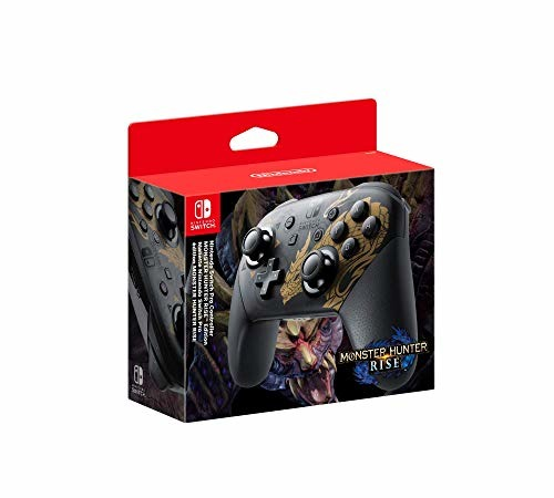 Nintendo Official Switch Pro Controller  Monster Hunter Rise Edition Switch - Switch - Andet -  - 0045496431464 -