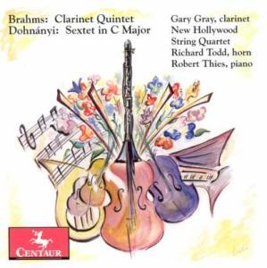 Clarinet Quintet in B Minor - New Hollywood String Quartet - Musik - CENTAUR - 0044747274522 - 21/3-2012