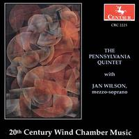 20th Century Wind Chamber Music - Wilson / Schafer / Stucky / Berger / Thorne - Musik - Centaur - 0044747222523 - 18/8-1995