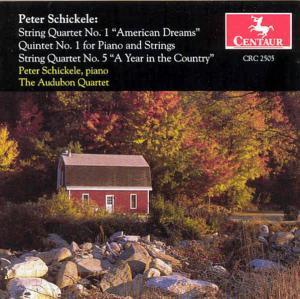 String Quartet 1: American Dreams / Quintet 1 - Schickele / Audubon - Musik - CENTA - 0044747250526 - 17/10-2000
