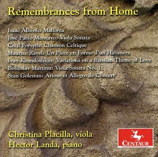 Remembrances from Home - Albeniz / Ravel / Martinu / Placilla / Landa - Musik - Centaur - 0044747304526 - September 28, 2010