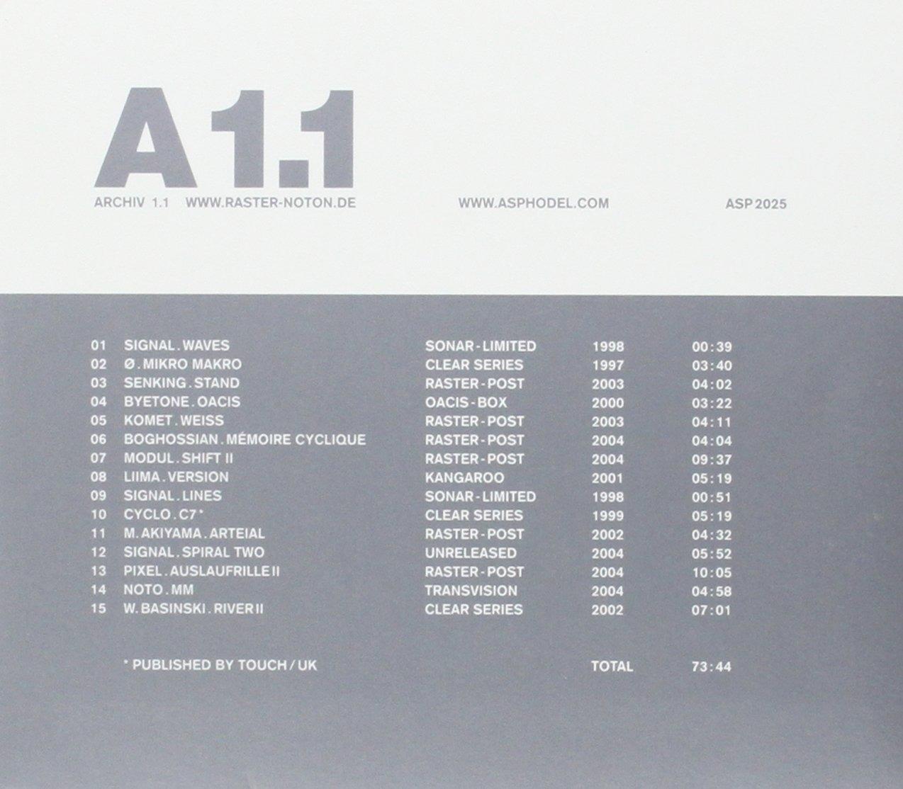 Archiv 1.1 - V/A - Musik - ASPHODEL - 0753027202529 - July 19, 2004