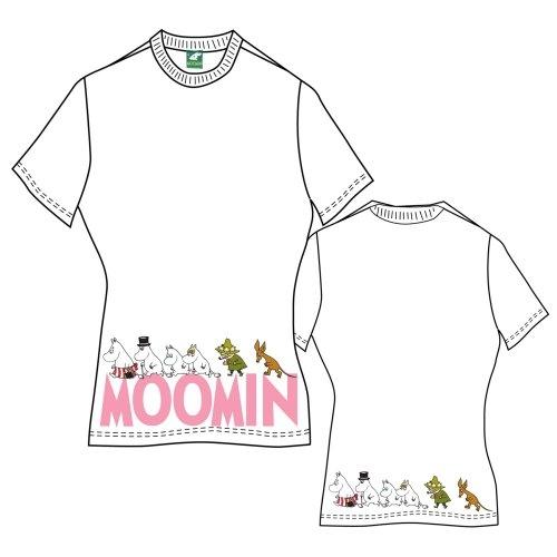 Moomins Ladies Tee: Moomins & Logo (Back Print) - Moomins - Merchandise - Caroline Mickler - 5055295327566 -