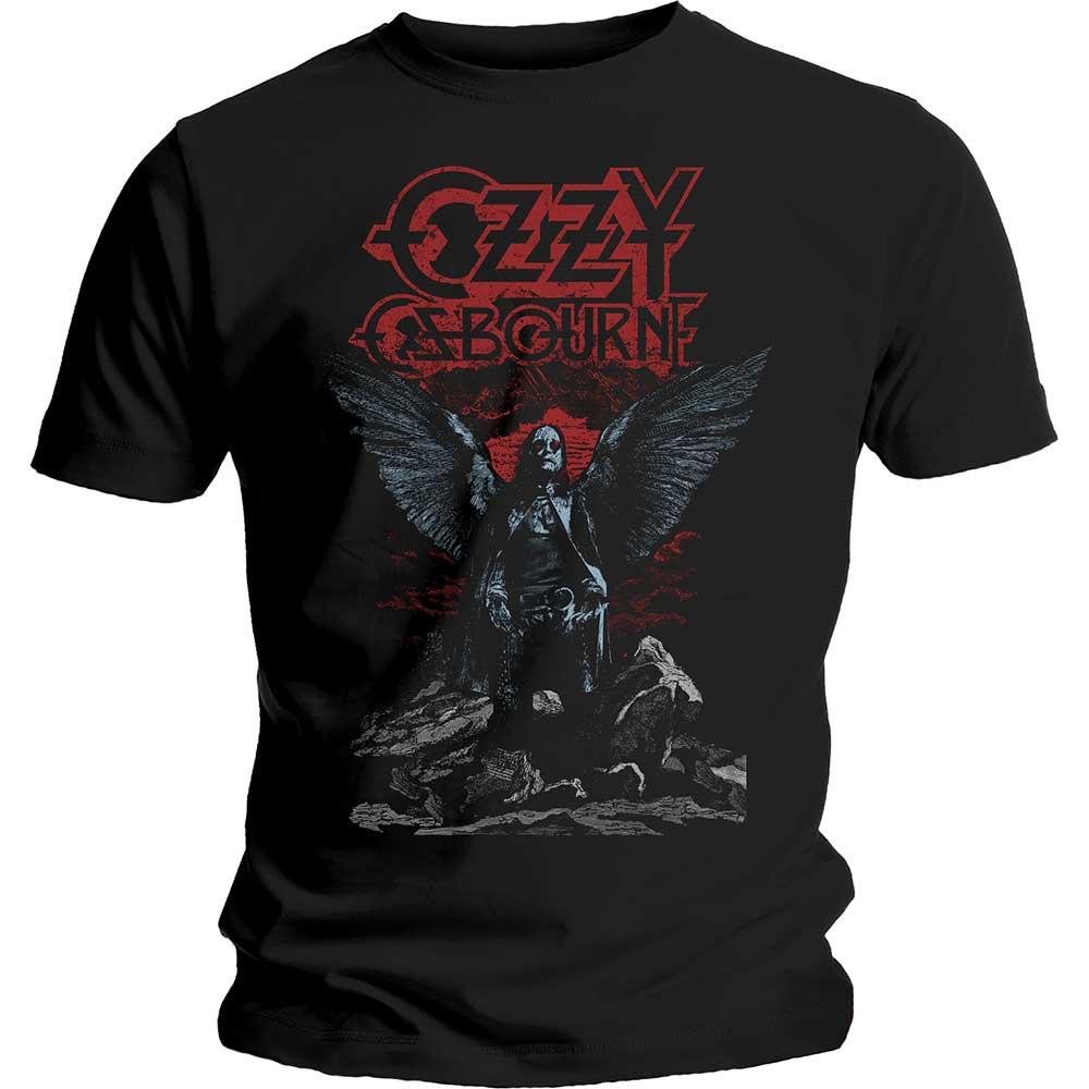 Ozzy Osbourne Unisex Tee: Angel Wings - Ozzy Osbourne - Merchandise - MERCHANDISE - 5056170639620 - 17/1-2020