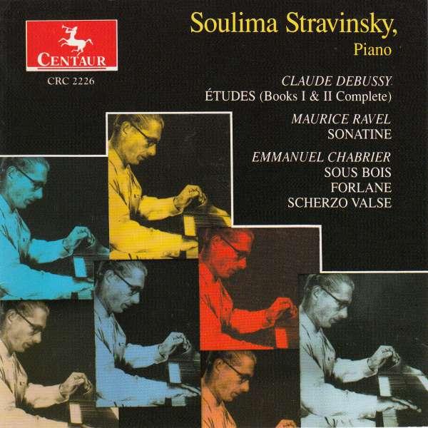Etudes Books 1 & 2 / Sonatine - Debussy / Ravel / Stravinsky - Musik - Centaur - 0044747222622 - 1/10-1996
