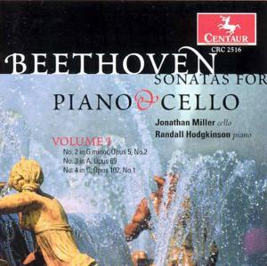 Sonates for Piano & Cello - Beethoven - Musik - CENTAUR - 0044747251622 - 21/6-2002