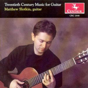 20th Century Music for Gu - Matthew Slotkin - Musik - CENTAUR - 0044747264622 - 6/2-2004