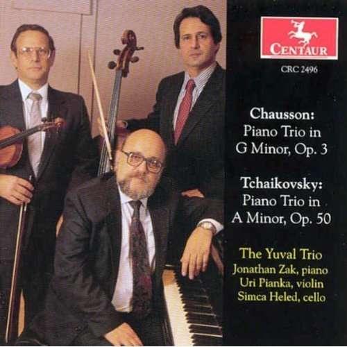 Piano Trio G Minor Op 3 / Piano Trio a Minor Op 50 - Chausson / Tchaikovsky / Yuval - Musik - CENTA - 0044747249629 - 27/3-2001