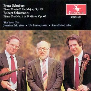 Schubert: Klaviertrio B-dur Op.99 - Yuval Trio - Musik - CENTAUR - 0044747265629 - 6/2-2004
