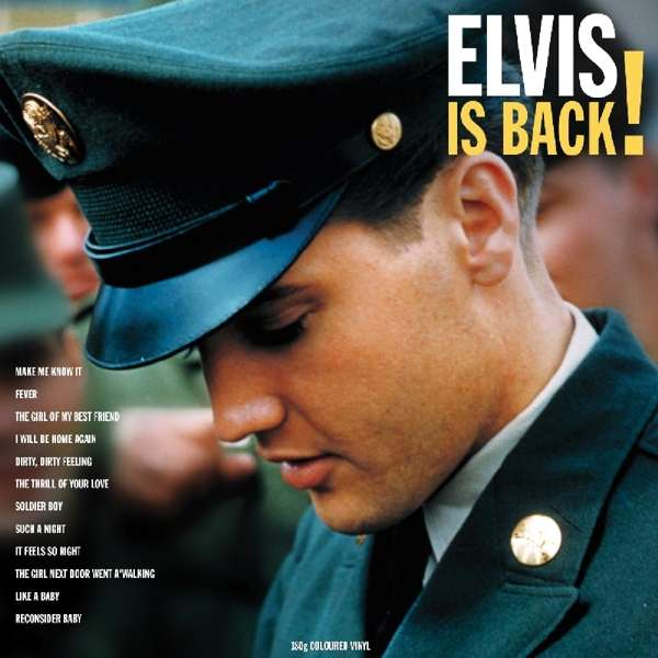 Elvis Is Back! (Yellow Vinyl) - Elvis Presley - Musik - NOT NOW MUSIC - 5060348582700 - 10. august 2018