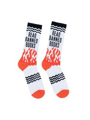 Read Banned Books Socks Lrg -  - Bøger - OUT OF PRINT USA - 0752489575714 - August 1, 2020