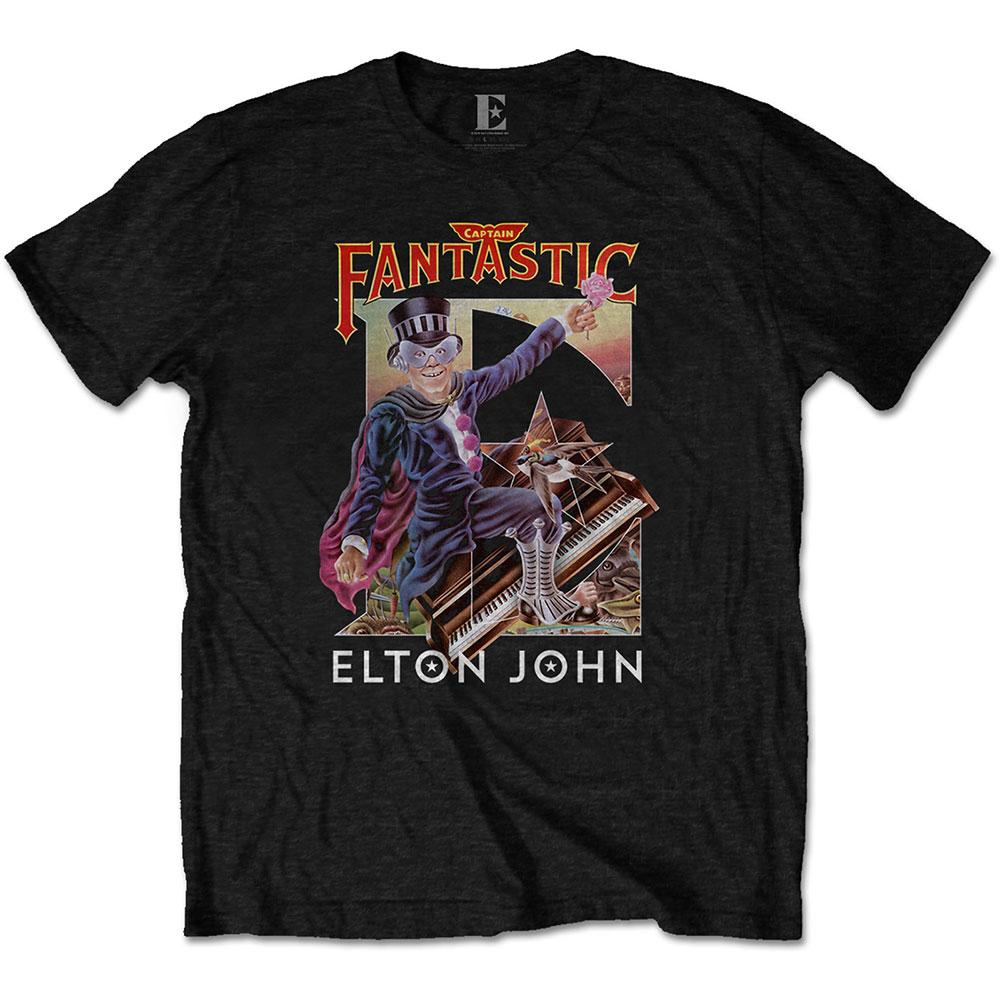 Elton John Unisex T-Shirt: Captain Fantastic - Elton John - Merchandise -  - 5056170683722 -