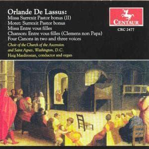 Missa Surrexit Pastor / Missa Entre Vous Filles - Lassus / Mardirosian - Musik - CENTAUR - 0044747247724 - 21/5-2002
