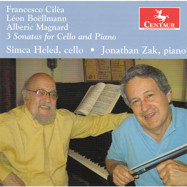 3 Sonatas for Cello & Piano - Simca Heled - Musik - CENTAUR - 0044747333724 - 1/4-2015