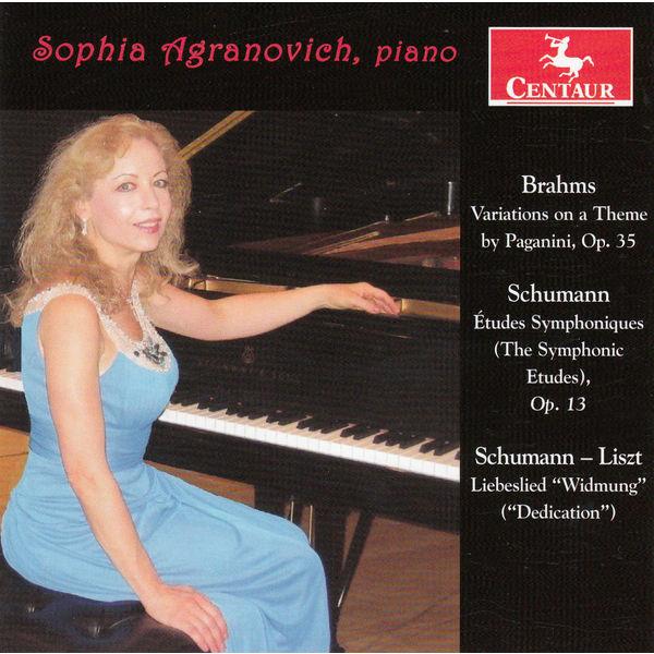 Paganini Variations Book I & II Op.35 - Brahms / Schumann - Musik - CENTAUR - 0044747336725 - 5/11-2014