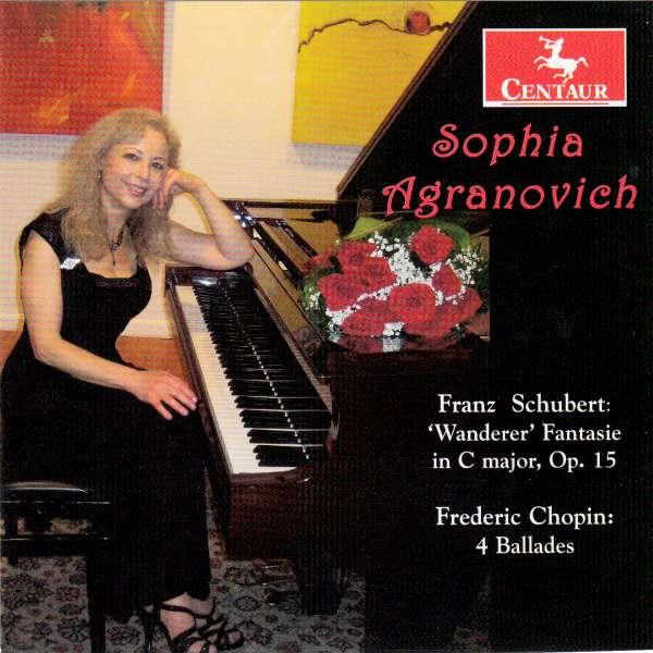 Wanderer Fantasie in C Major Op.15 - Sophia Agranovich - Musik - CENTAUR - 0044747342726 - January 6, 2016