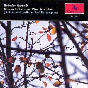 Sonata 1 for Cello & Piano - Martinu / Bohuslav - Musik -  - 0044747220727 - 1/5-1995