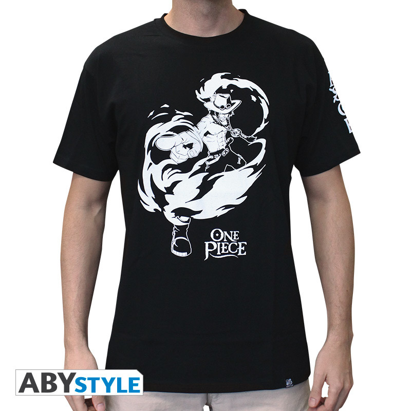 One Piece - Tshirt Ace Man Ss Black - Basic -  - Andet -  - 3760116324748 -