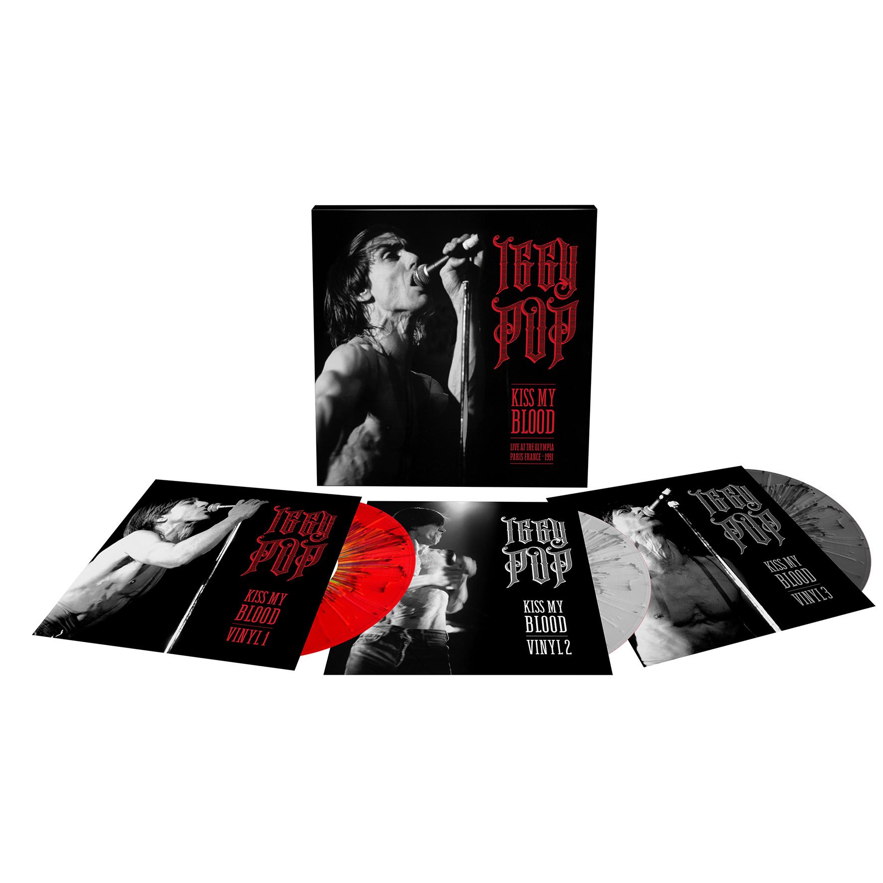 Kiss My Blood (Live In Paris 1991) (Red / White Splatter Vinyl) - Iggy Pop - Musik - L.M.L.R. - 3700477831783 - August 29, 2020