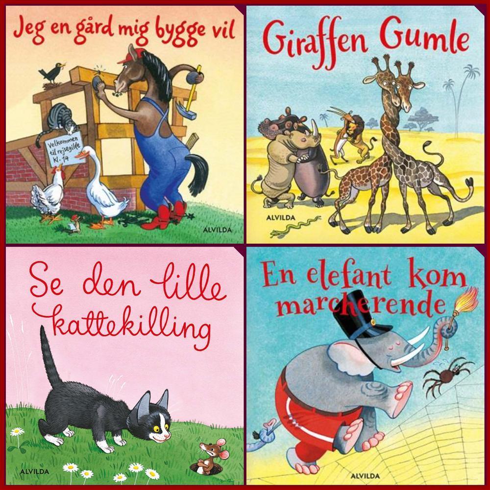Elefantastiske børnesange. Gaveæske med 4 papbøger - Bente Bech - Bøger - Forlaget Alvilda - 9788771657784 - 30/10-2017
