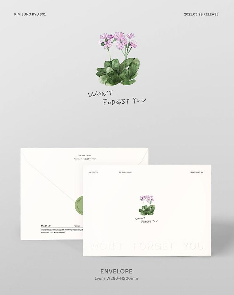 WON'T FORGET YOU (SINGLE ALBUM) - KIM SUNG KYU - Musik -  - 8804775159794 - 15/4-2021