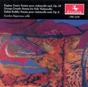 Sonatas for Cello - Ysaye / Crumb / Kodaly / Epperson - Musik - CAV - 0044747222820 - 22/3-1995