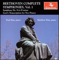 Symphony No.9 (Trancsribed for 2 Pianos by Liszt) - F. Liszt - Musik - CENTAUR - 0044747295824 - 21/3-2012