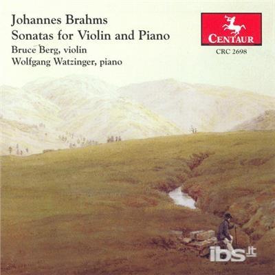 Sonatas for Violin & Piano - Brahms / Berg / Watzinger - Musik - Centaur - 0044747269825 - 25/1-2005