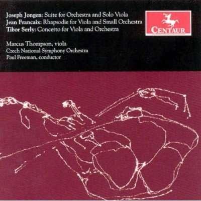 Suite for Orchestra & Solo Viola - Jongen / Francaix / Czech Nat'l Orch / Freeman - Musik - Centaur - 0044747278827 - October 31, 2006