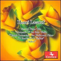 Secon Piano Trio / Momenti Li for Solo Violin - V/A - Musik - CENTAUR - 0044747294827 - 21/3-2012
