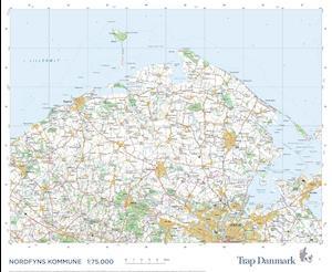 Trap Danmark: Falset kort over Nordfyn Kommune - Trap Danmark - Bøger - Trap Danmark - 9788771812893 - December 31, 2021