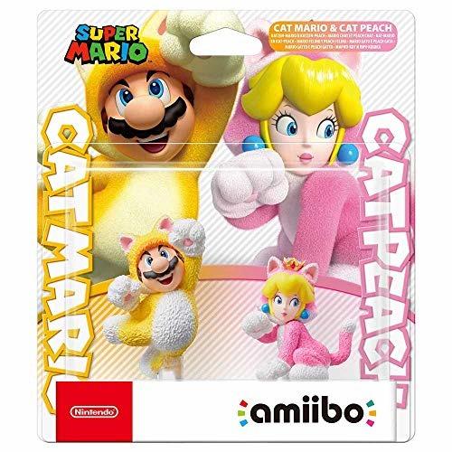 Amiibo Doppelpack Katzen-Mario + -Peach - Multi - Merchandise -  - 0045496380908 - February 12, 2021