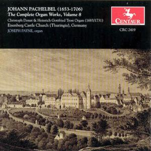 Complete Organ Works 8 - J. Pachelbel - Musik - CENTAUR - 0044747241920 - 2004