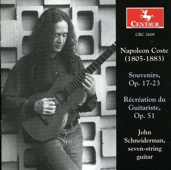 Souvenirs Op 17-23 / Recreation Du Guitariste - Coste / Schneiderman - Musik - CENTAUR - 0044747260921 - 27/5-2003