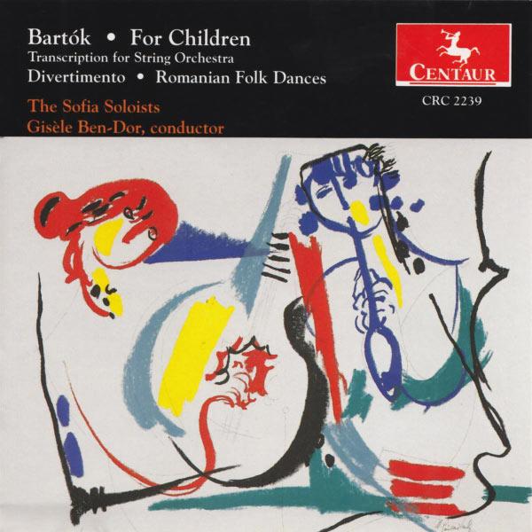 Divertimento for String Orchestra - Bartok / Ben-dor - Musik - CENTAUR - 0044747223926 - 23/5-1995
